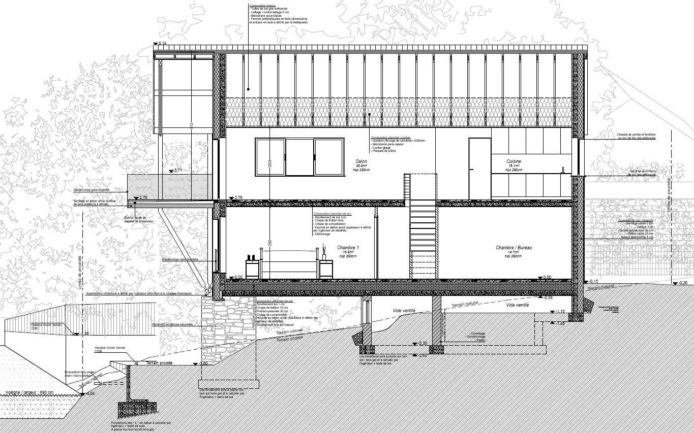 Octobre 2014 cr ative architecture sprl architectes for Coupe verticale d un batiment